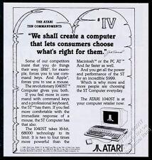 1986 Atari 1040St computer 10 Commandments 4th Commandment vintage print ad