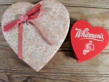 Vintage Valentine lot of 2 hearts candy boxes paper ephemera gifts scrap craft