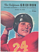 1939--USC (GRENNY LANSDALE--#3 UNDEFEATED) @ CAL--FOOTBALL PROGRAM-NMT