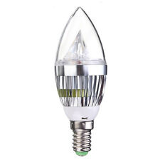 6x E14 4.5W LED Candle Bulbs Cool White Non Dimmable Wall Light HY