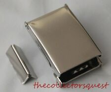 "NEW FLIP TOP CHROME BELT BUCKLE with TIP ONLY for 1.25"" Canvas Belts Replacement"