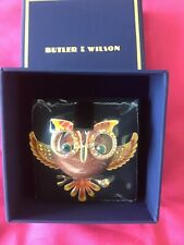 """Large Owl Brooch By """"BUTLER & WILSON"""" — BNWT  - Sealed"""