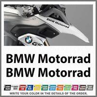 2x BMW Motorrad Black R1200 R1150 F800 F650 F700 GS 99-17 PEGATINA AUTOCOLLANT