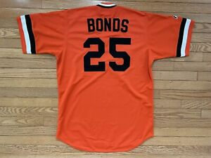 Majestic Cooperstown Barry Bonds SF San Francisco Giants Jersey Large Stitch New