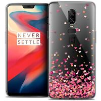 """Coque Crystal Gel Pour OnePlus 6 (6.28"""") Souple Sweetie Heart Flakes"""