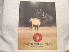 SIMMONS SCOPE OPTICS 2002 gun shooting catalog