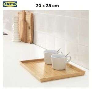 IKEA BAMBOO SERVING TRAY Tea Coffee Table Fruit container tea tray Gift Present