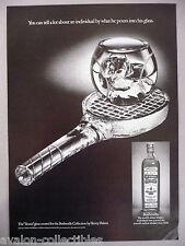"Old Bushmills Irish Whiskey PRINT AD - 1977 ~ Henry Halem created ""Tennis"" glass"