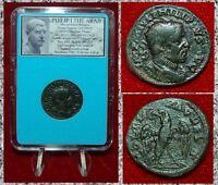 Ancient Roman Empire Coin PHILIP I THE ARAB Eagle Holding Wreath In Beak