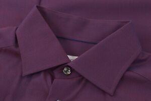 Eton NWOT Dress Shirt Size 39 15.5 Contemporary Magenta Blue Geometric W/ Sheen