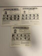 Wanted By The FBI Documents Dean Schwartzmiller David McQueen Tony Amati