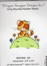 NEW WHIPPER SNAPPER cling Rubber Stamp KIT SPRING CAT FREE US SHIP