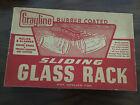 Vintage 1950's MCM Retro Sliding Glass Rack in Original Box w/ Screws