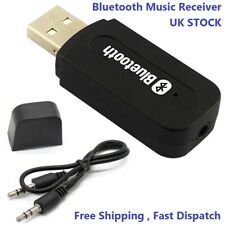 3.5mm to USB Bluetooth Receiver AUX Audio Stereo Music Adapter System Car Laptop