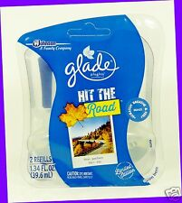 2 REFILLS Glade Plugins HIT THE ROAD Scented Oil FALL COLLECTION (1 Pack)