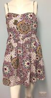 Ally multi colour abstract design dress size 12 Womens Casual party beach summer