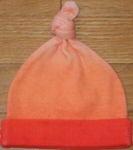 NEW Vtg Baby GAP Orange Ombre Tie Knot BEANIE Cap HAT Size NB Newborn 0-3 mo NWT