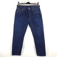 Levi's Jeans 501 0101 Herren W34 (wie W31) L34 Blau Straight Indigo Dark Wash