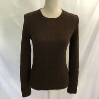 Ralph Lauren Black Label Cashmere Sweater Pullover Medium Cable Knit Slim Fit