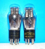 No 37 radio audio vintage guitar amplifier vacuum 2 tubes valves tested ST type