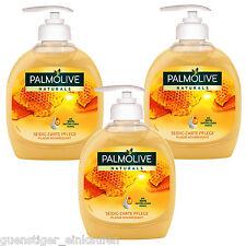 (11,53€/L) 3x 300ml Palmolive Naturals Seidig Zarte Pflege Honig Handseife