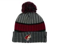 Phoenix Arizona Coyotes New Era Striped NHL Team Logo Pom Knit Hockey Hat Beanie