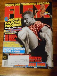 FLEX bodybuilding muscle magazine DORIAN YATES/Monica Brant poster 11-99