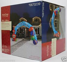 Christmas 18 ft Lighted Deck the Halls Archway Airblown Inflatable NIB