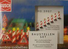 BUSCH 5907 H0 Baustellenblitz / Warnbaken mit Blinklicht, Bausatz