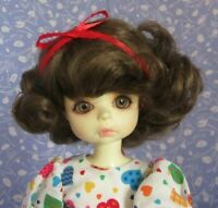 Monique SOPHIE Lt. Brown Full Adj Cap Doll Wig Size 8-9 Curly, Mid-length