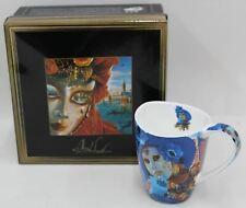 "CARMANI PAINTERS Venice Mask Tea Coffee Cup Alex Levin Collection 4.5 x3.5"" BNIB"