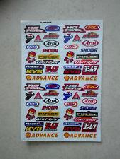 Mini Sticker Aufkleber auf Bogen Advance NoFear FX Arai Racing Motorsport Tuning