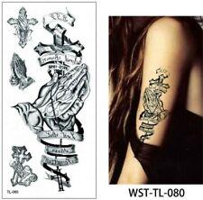 High Quality 18cm x 8cm Fake Temporary Tattoo Praying Hands /-b604-/