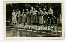 Hotel Ruiz Galindo RPPC Lima PERU Vintage Women Photo ca. 1940s