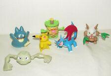 6 POKEMON FIGURE LOT Nintendo Figurines Pikachu 2007 Geodude Shiftry Ludicolo