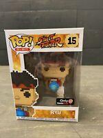 FunKo Pop! Street Fighter 8-Bit Ryu #15 GameStop Exclusive Figure