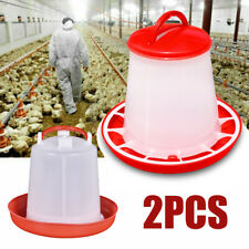 1kg Feeder & 1.5L Drinker Chicken/Poultry/Chick/Hen Food And Water Accesories pp