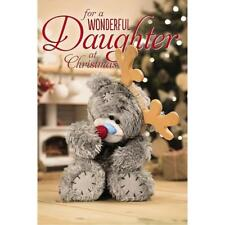 Me to You Tatty Teddy 3d Holographic Christmas Card - Daughter X93MZ061