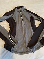 Womens Lululemon Size 2 Quarter Zip Jacket Black Grey Reversible