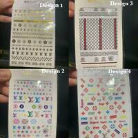 NAIL DECORATIONS MULTICOLOURED DESIGNS NAIL STICKERS - UK SELLER FAST DELIVERY
