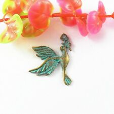 20pcs Vintage Bronze Flying Birds Look Alloy Necklace Pendant Jewelry Findings