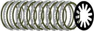 Belt Drives BTXP-14 High Performance Clutch Plate Kit with Extra Plate