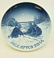 2014 B&G Bing & Grondahl Christmas Plate - Sled Ride in the Snow -  New In Box