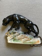 VINTAGE KITSCH MID-CENTURY BLACK PANTHER TV LAMP  BY LANE & COMPANY (1959)