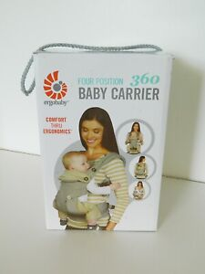 Ergobaby 360 4 Position Baby Carrier 12-33 lbs Cool Air Mesh Grey CIB w/ Manual