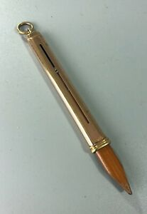 Edwardian Rolled Gold Silver Carpenters Pencil By AW Faber AZX