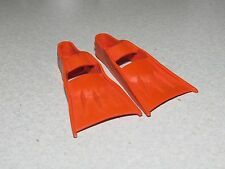 GI JOE SCUBA DIVER FLIPPERS (ORANGE) 1 PAIR - FREE US SHIPPING!