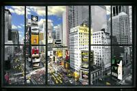 New York Window : Times Square - Maxi Poster 91.5cm x 61cm new and sealed