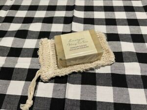 Gift set 2 piece cold process soap and sisal bag choice of fragrance shea butter