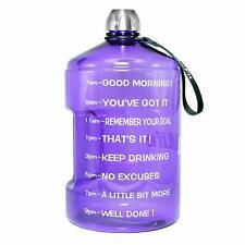 BPA Free Motivational Fitness Workout Large Water Bottle Time Marker Goal Large